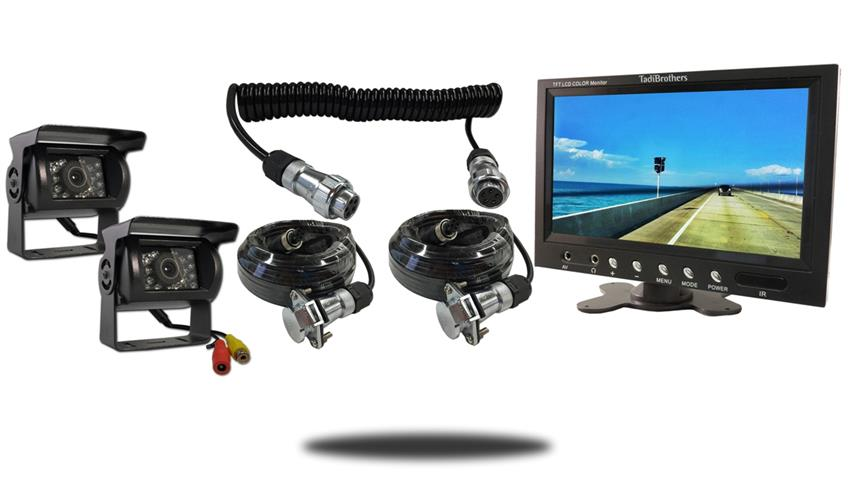 2 120 degree wired rv backup cameras with 10.5