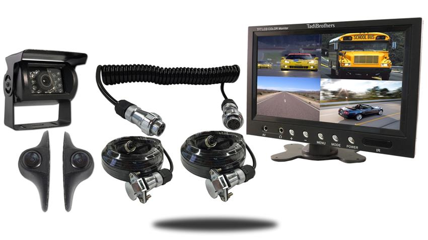 RV Backup Camera System|Quick Disconnect|3 rearview Cameras|split screen|SKU127638
