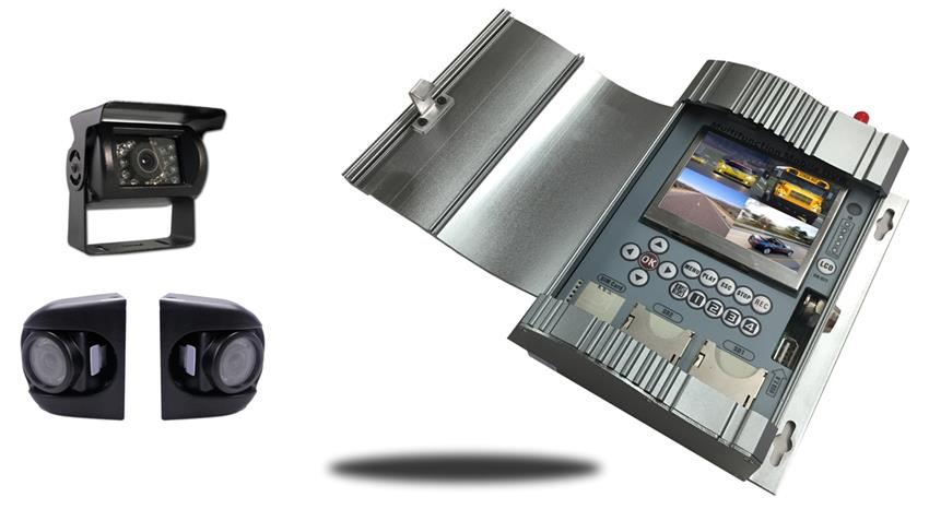 Mobile DVR with 4.3-Inch built in monitor and 3 Cameras