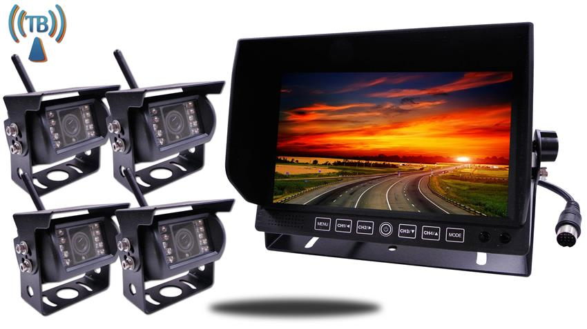 4 Digital Wireless Backup Cameras|split screen Monitor|SKU12770