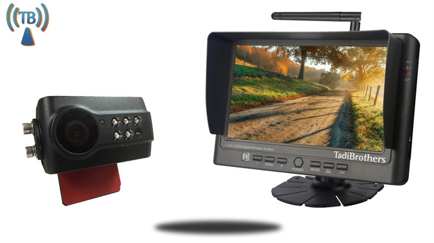 9-Inch Monitor with Digital Wireless Slip On license plate Backup Camera SKU-39434