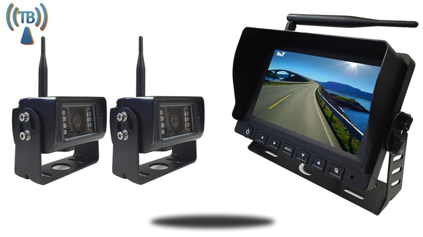 7 Inch Monitor with 2 Built In Wireless Mounted RV Backup Cameras