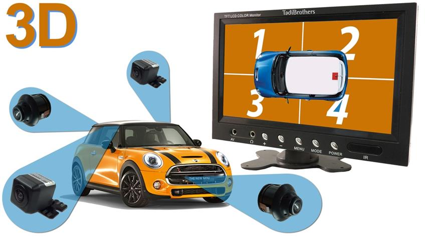 Car Camera System >> 360 Degree Camera System In 3d For Surround View With Dvr 4 Cameras