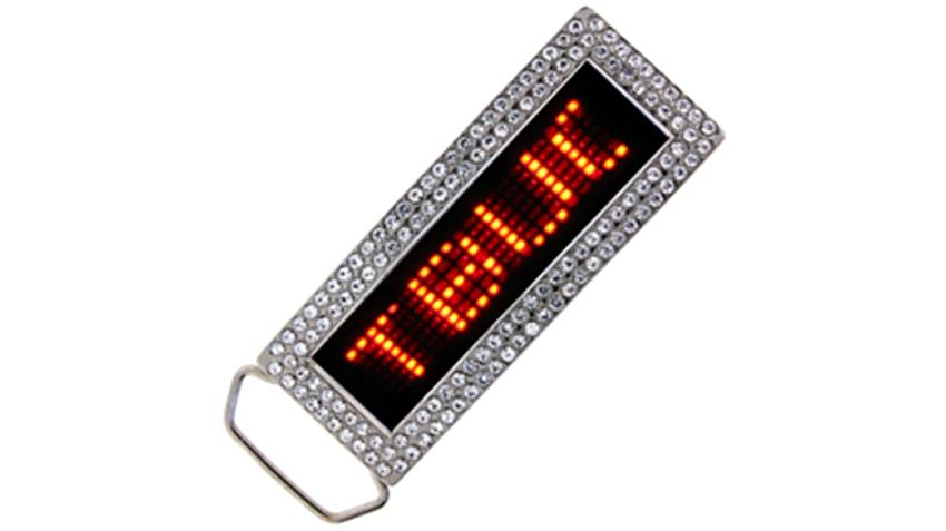 Red LED Belt Buckle
