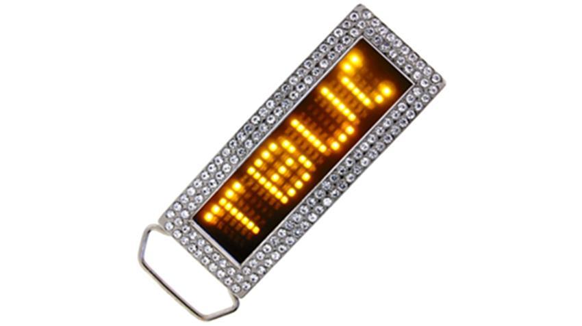 Yellow LED Belt Buckle