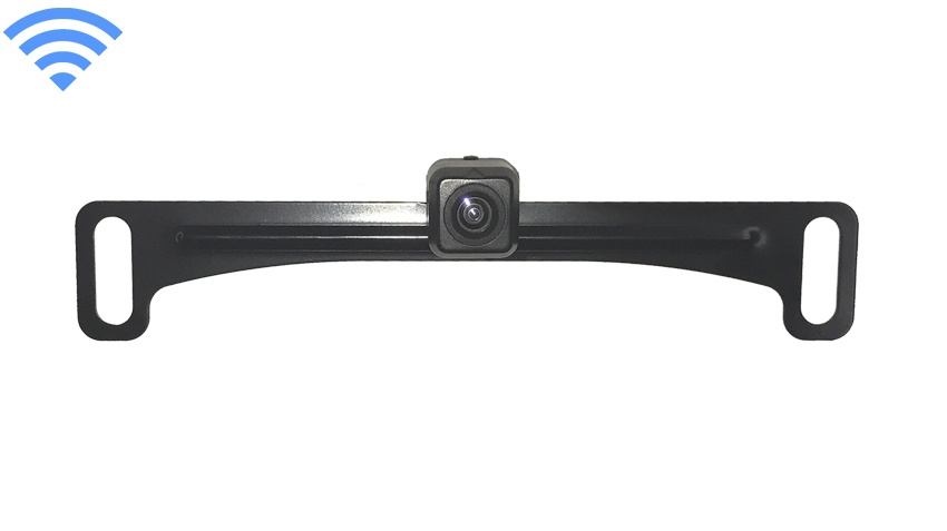 120° Concealed Black License Plate Backup Camera (Hi-Res Wireless) | SKU63908