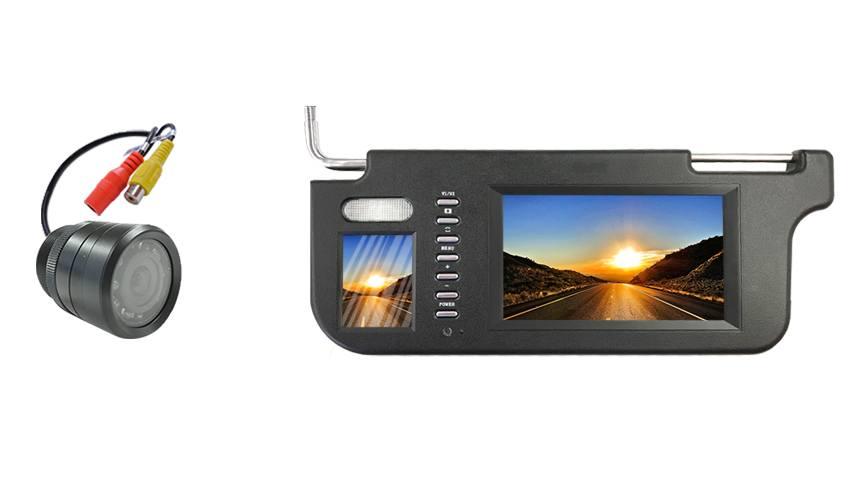 150 Degree Bumper Backup Camera | Visor Monitor | SKU51916