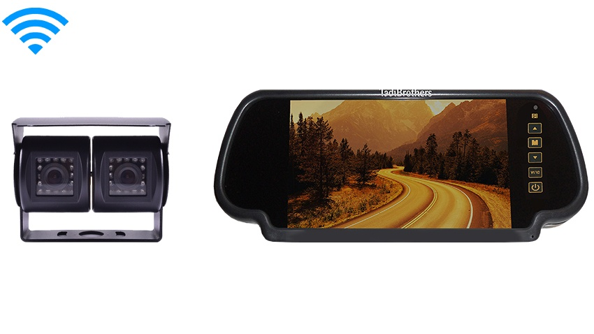 7 Inch Mirror and a 120 Degree Double Mounted Wireless RV Backup Camera Great for RV's, Trailers, and Trucks!