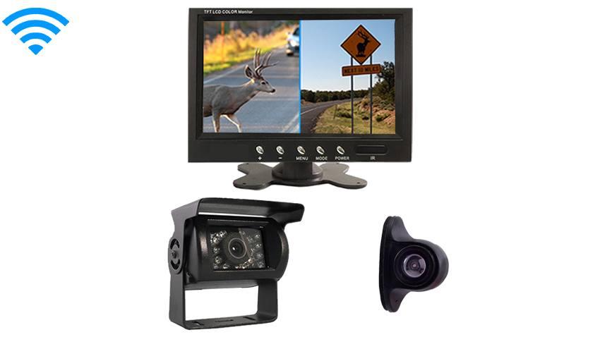 7 Inch Monitor with Wireless RV Box Camera and Side Camera