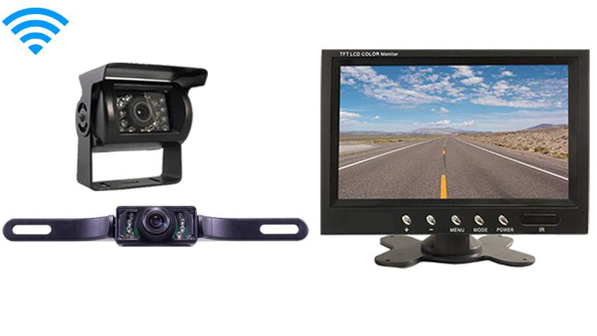 Backup Camera System >> 5th Wheel Rear View System With 2 Wireless Backup Cameras And Monitor