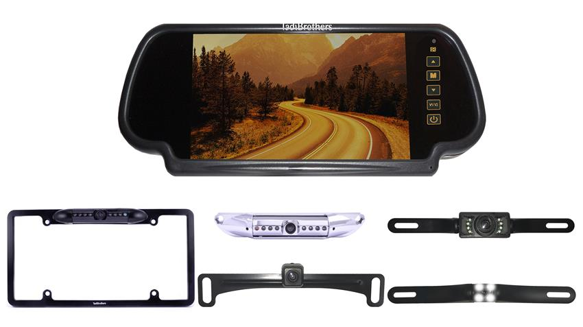 License Plate Backup Camera | 7-Inch Mirror Monitor | SKU16342