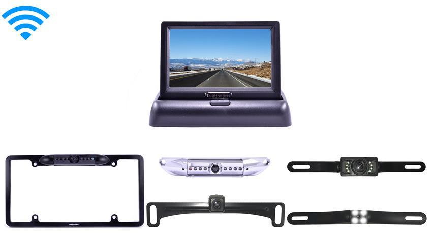 Wireless License Plate Reverse Camera & Pop up Monitor
