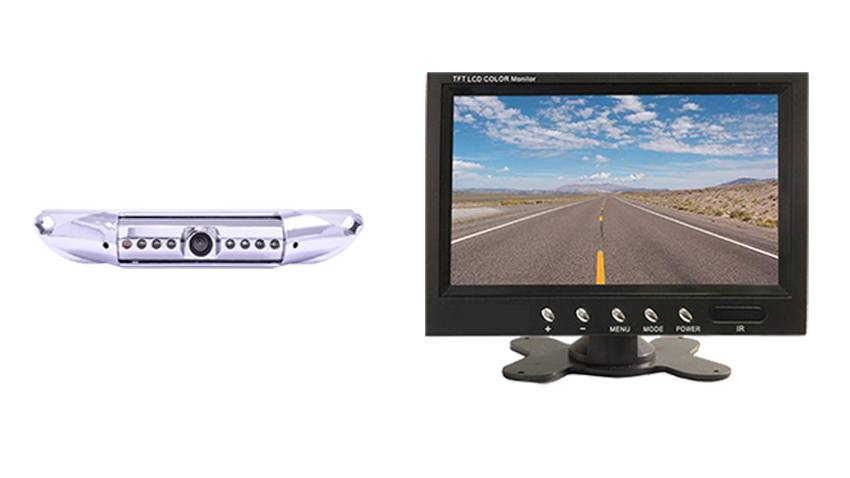 Rearview Camera | Silver License Plate Backup Camera Kit | SKU25329