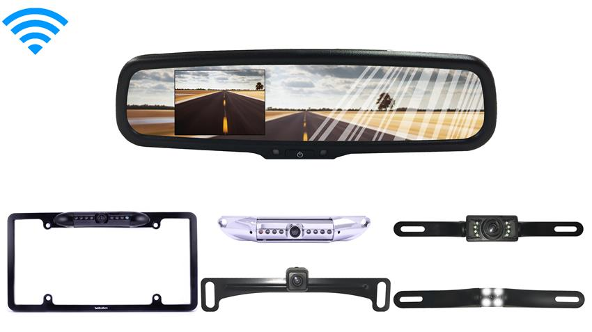 4.3 inch Mirror with Wireless License Plate Backup Camera
