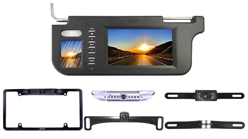 Visor with License Plate backup camera