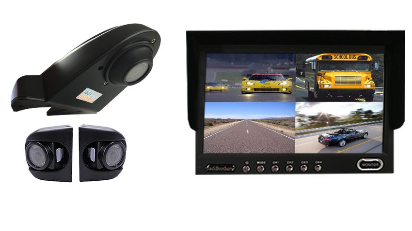 Commercial Backup Camera Kit| 2 Premium Side Cameras|Overhang Cam.