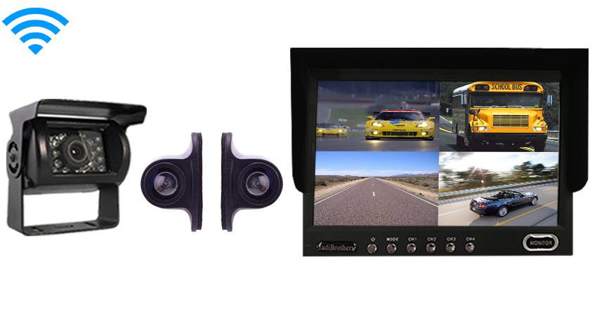 Wireless RV Trailer Backup Camera kit | 3 rear view cameras
