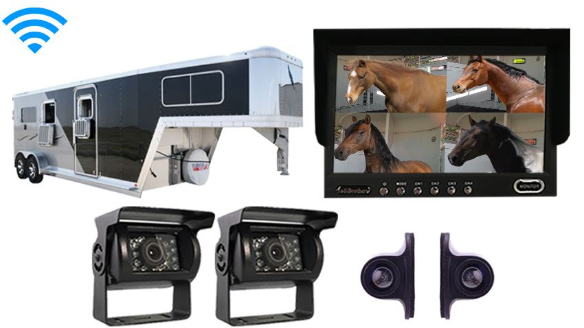 Wireless horse Surveillance Trailer Backup Camera System | SKU121176