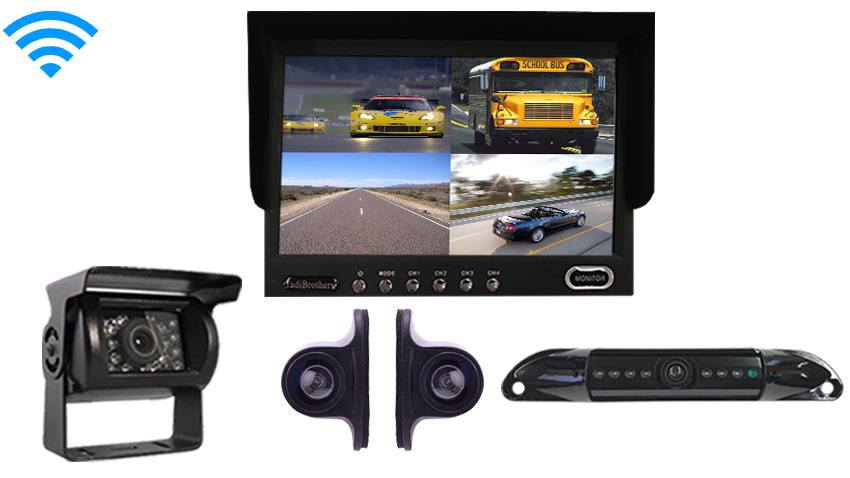 Wireless RV Trailer Backup Camera kit|4 Rear view cameras|SKU127525