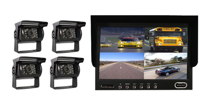 Aftermarket backup camera system | 4 Night vision cameras and split screen | SKU1276333