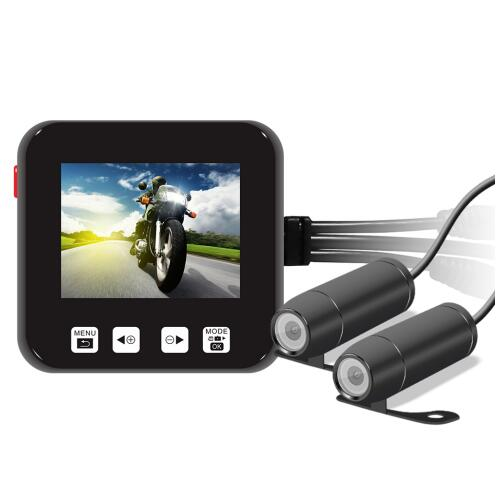 2 Camera Motorcycle Dvr Recording Camera System 360