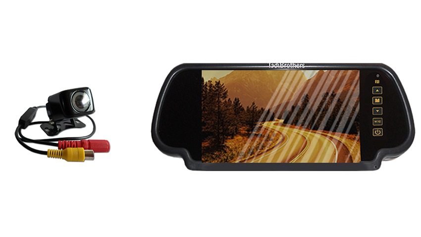 Mirror with backup camera