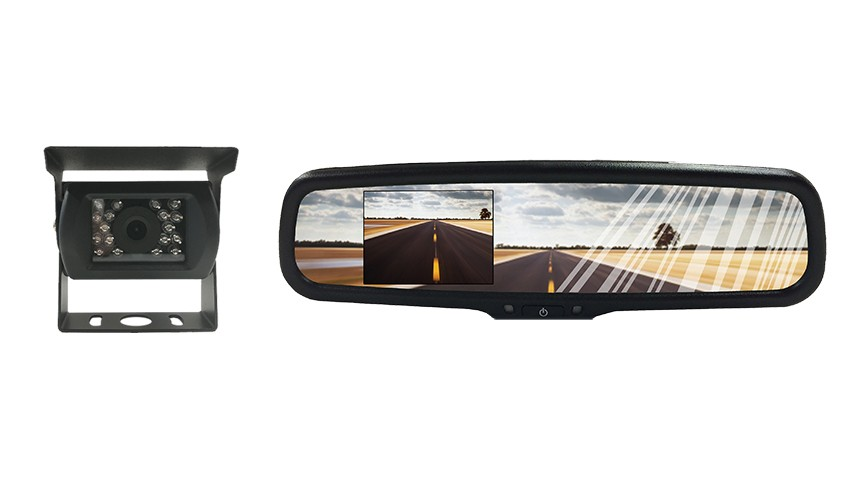 Rear View Backup System With A 4 3 Inch Full Mirror