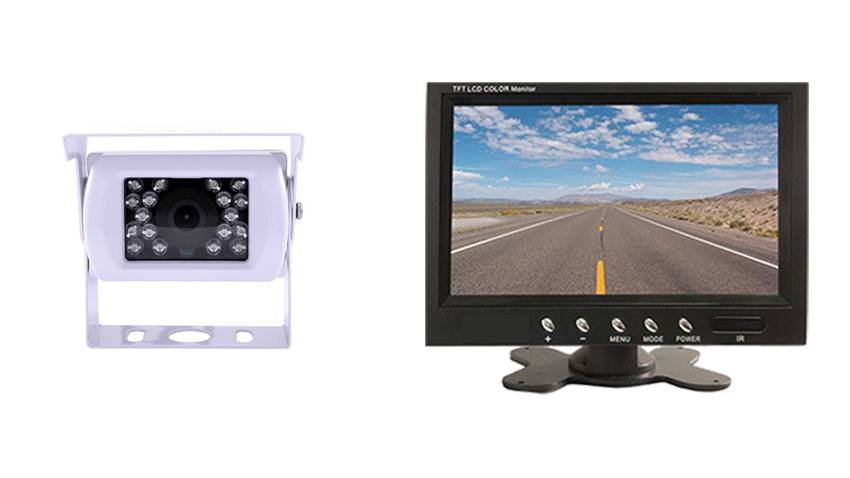 White Rv Backup Camera With Rear View Monitor