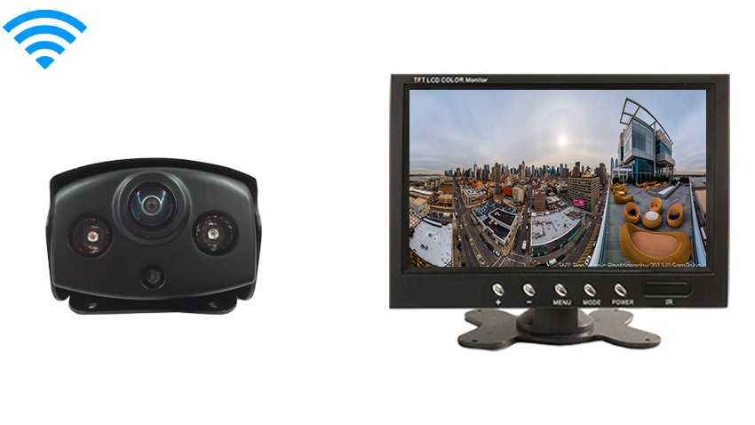 Panoramic 180 Degree Wireless RV Backup camera | 7 inch monitor | SKU-58427