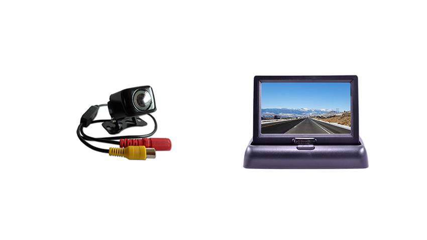 Smaller monitor with backup camera