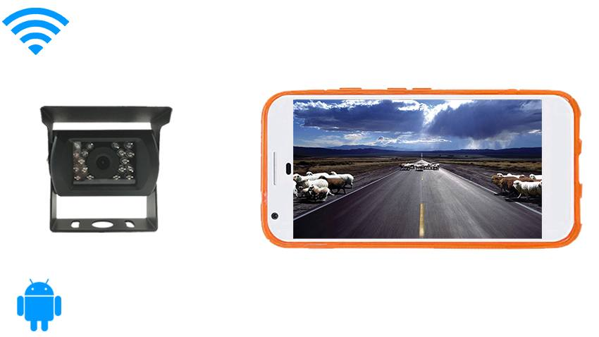 Android Backup Camera for RV, Truck, Long Vehicle | SKU11600