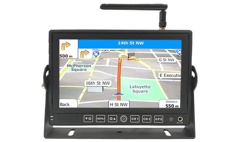 GPS Bluetooth monitor with optional backup camera