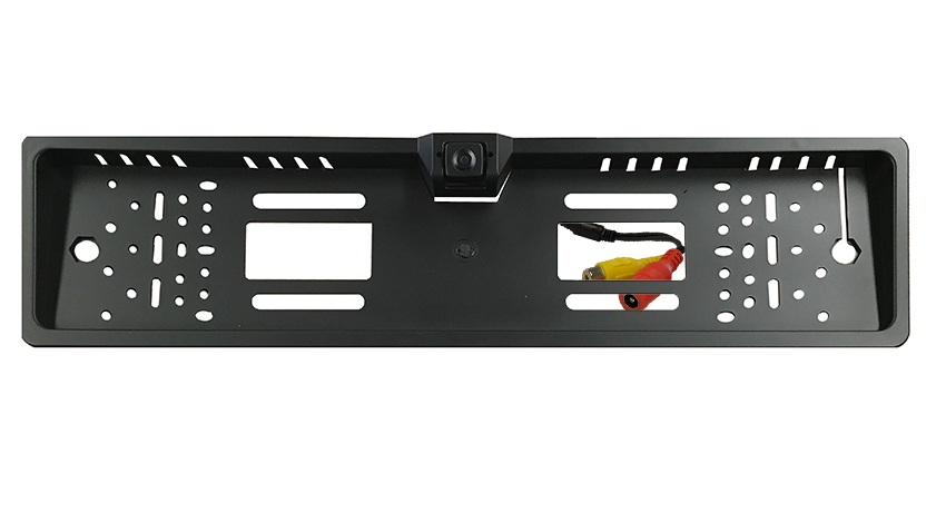 The 120 degree hi-res CCD European license plate camera features a universal euro size frame with numerous holes for easy installation.