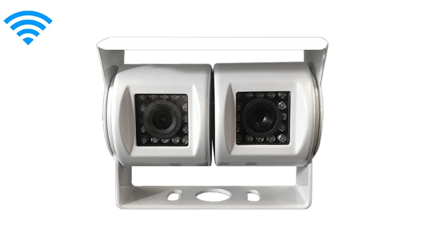 Wireless Double lens 120° White RV Backup Camera (Birds Eye View) | SKU52316124