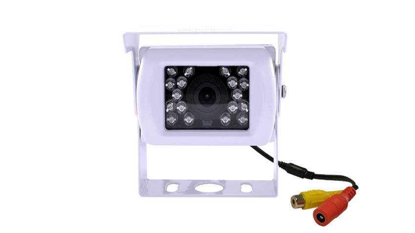 White RV Backup Camera (Birds Eye View)