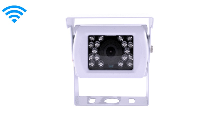Wireless White Rv Backup Camera With A White Rear View Monitor