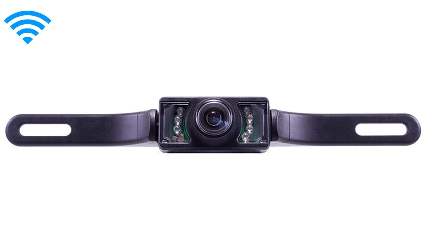 Wireless 120° Degree Black License Plate Backup Camera | SKU33276
