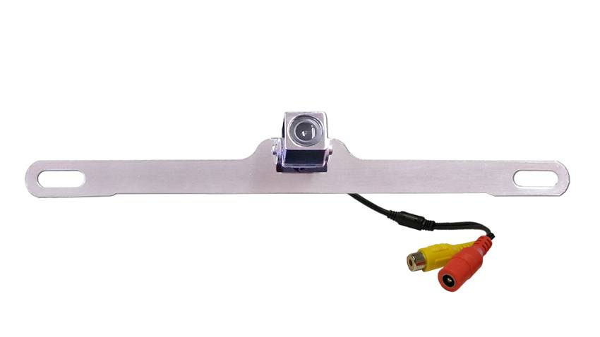 The concealed silver license plate camera is perfect for low-profile installation on cars, trucks, RVs, trailers, and many more.