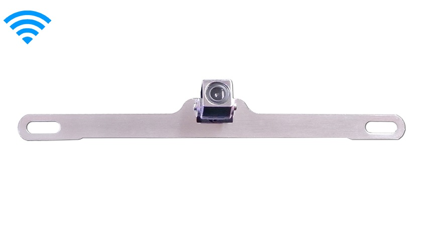 120° Concealed Silver License Plate Camera (Hi-Res Wireless CCD)   SKU93099
