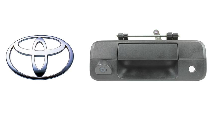 Backup camera built in to the tailgate handle for Toyota Tundra. For specific model years please call our support line.