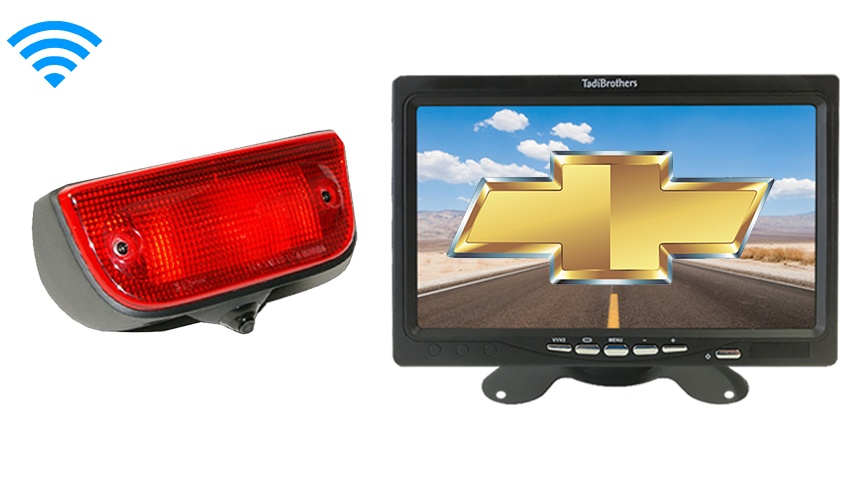 Chevy City Express Van Wireless 3rd Brake Light Backup Camera System