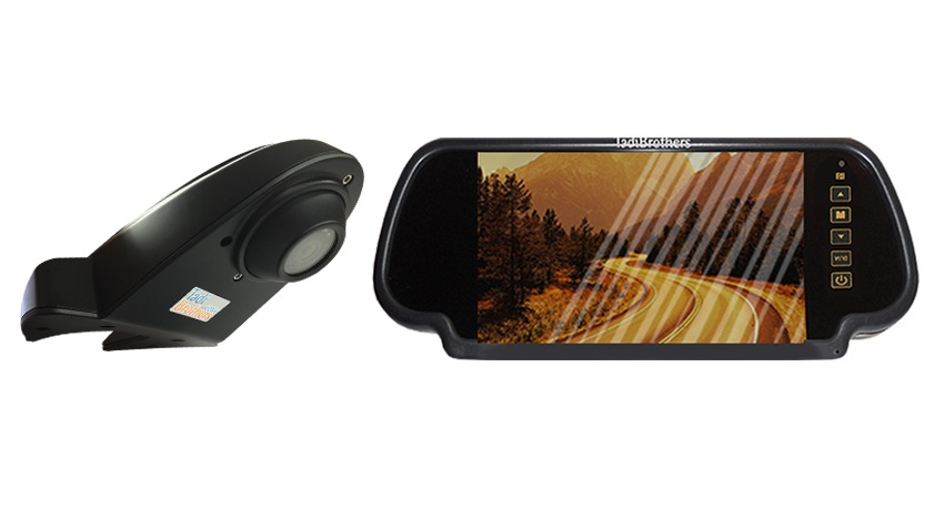 Wired ccd Overhang Roof backup camera with 7