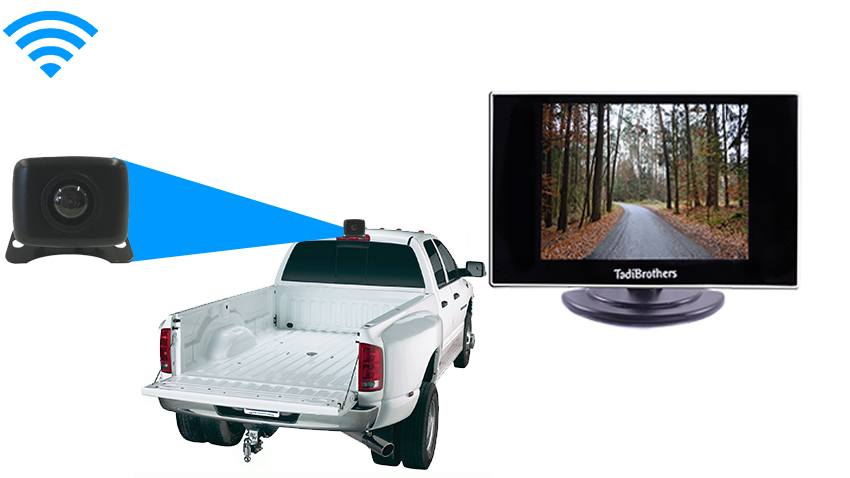 Commercial Gooseneck Trailer hitch backup camera System  | SKU-62688