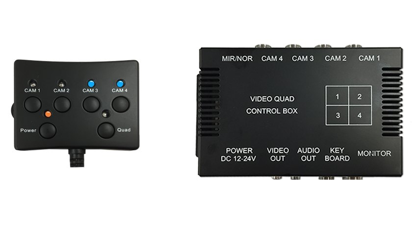 Split Screen Multiplexer Control Box With Wired Remote For