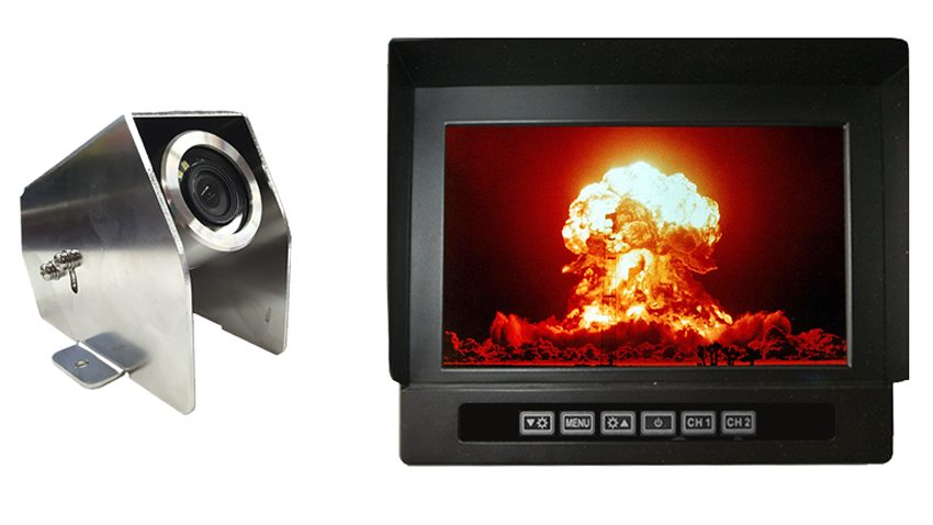 Anti explosion proof backup camera housing 7 inch heavy duty monitor | SKU-67752