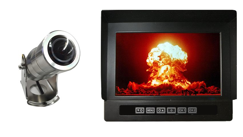 Anti explosion backup camera with panoramic view|7 inch heavy duty monitor|SKU-67751