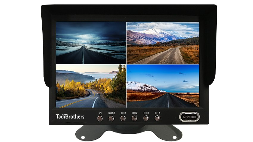 9 inch Split Screen Monitor for up to 4 Backup Cameras | SKU35289