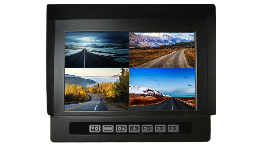 9-Inch Heavy Duty Split Screen Monitor for up to 4 Backup Cameras | SKU97658