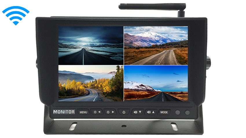 7-Inch Split Screen Monitor for up to 4 Built in Backup Cameras | SKU46987