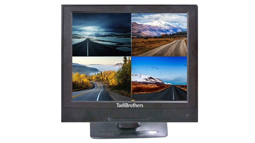 watch 4 differnt images on this 12 inch split screen you can even hook up a DVD player to 1 of the inputs